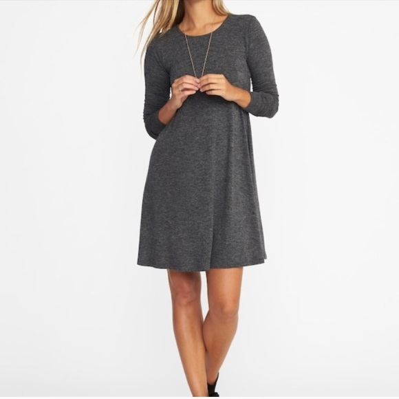 f682f4bcbc4 Gray Long Sleeve Old Navy Swing Dress - Large Tall.  M 5acec385a4c4854350d7a6f0